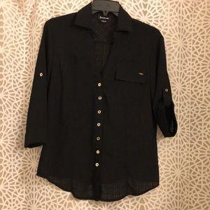 Bebe black blouse SMALL